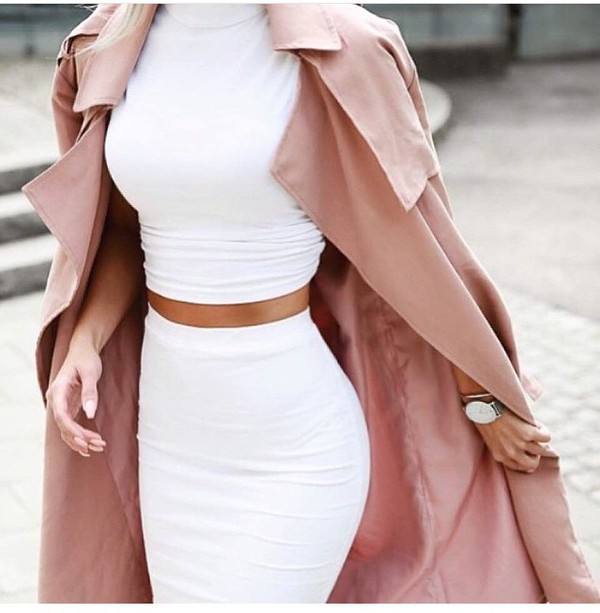 Long Pink Coat - Shop for Long Pink Coat on Wheretoget
