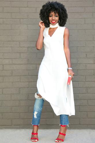 blogger top jeans bag shoes