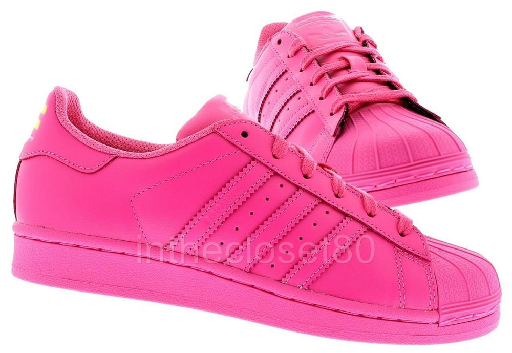 adidas superstar pink women
