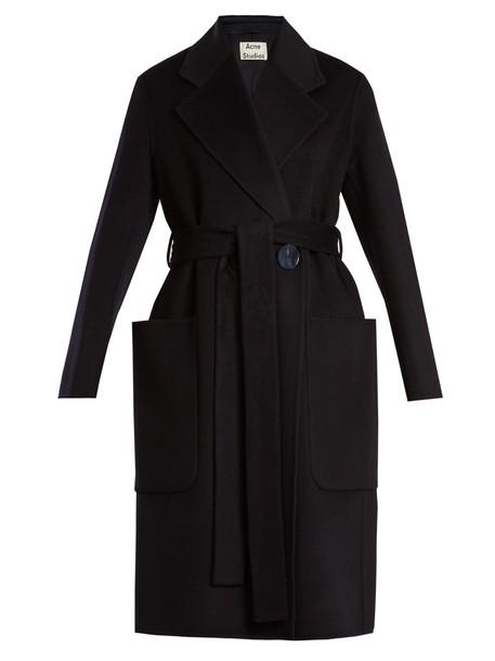Acne Studios coat wool navy
