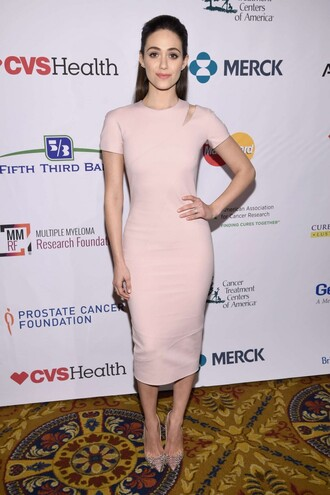 dress midi dress pumps nude nude dress emmy rossum victoria beckham dress