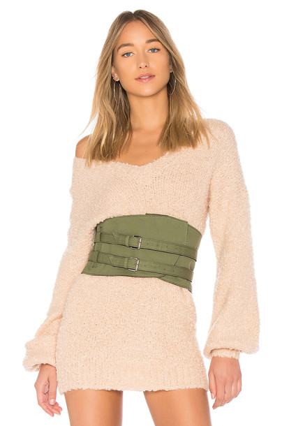 Lovers + Friends belt green