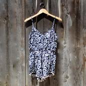 jumpsuit,floral,daisy,romper,pompom playsuit,pompom shorts,pompom trim,bohemian,boho,hippie,boho chic,gypsy,long,pink maxi