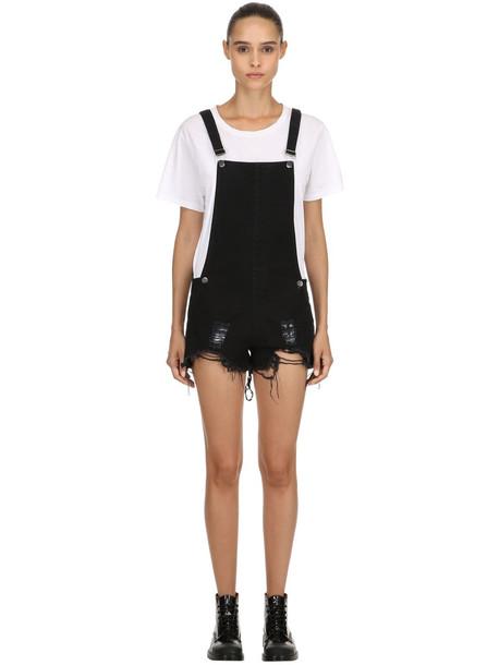 overalls short overalls short black jumpsuit