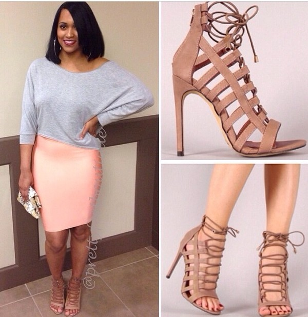 shoes heels skirt