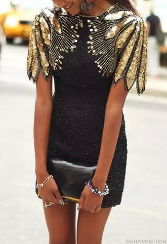 dress little black dress black dress sparkle dress gold dress