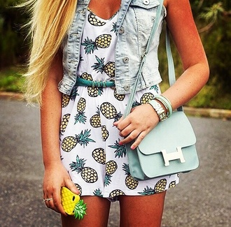 cardigan vest denim dress