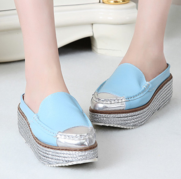 high heels wedge shoes platform shoes