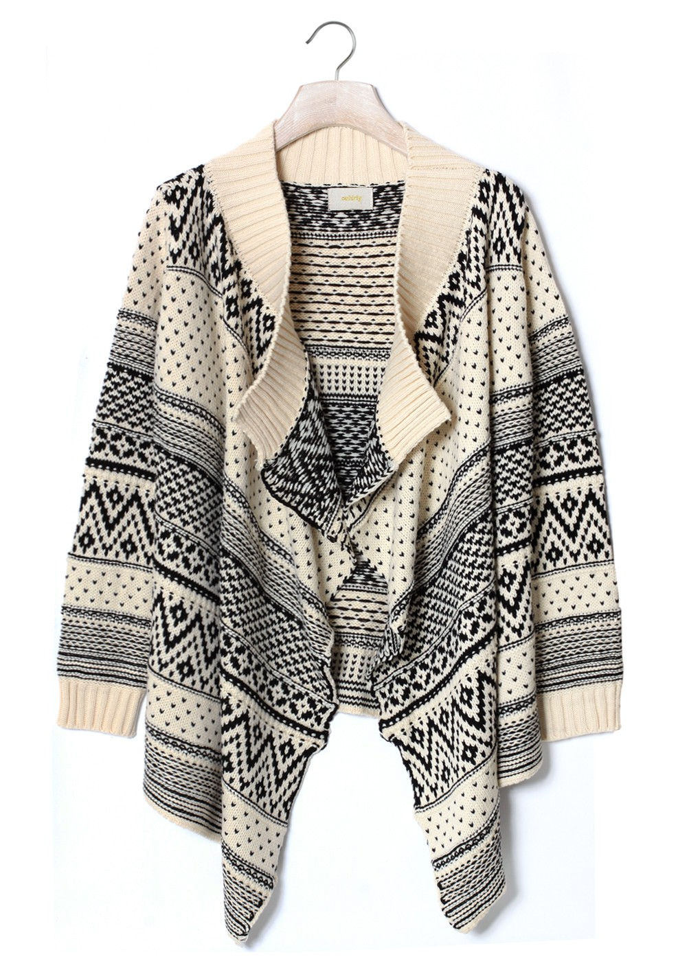 Multi Sweater - Zig-Zag Aztec Print Long Sleeve | UsTrendy