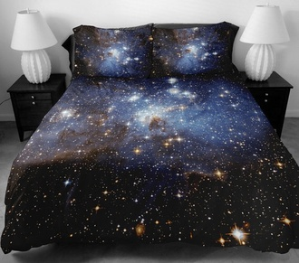 home accessory galaxy print bedding
