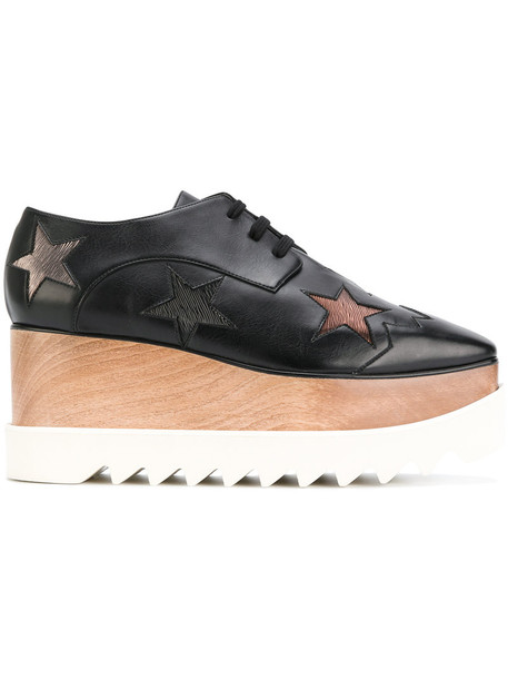 Stella McCartney wood women shoes platform shoes black