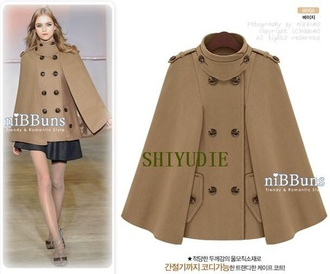 coat aliexpress cape double breasted