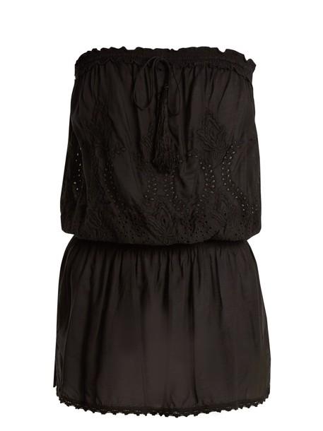 Melissa Odabash dress strapless dress strapless embroidered black