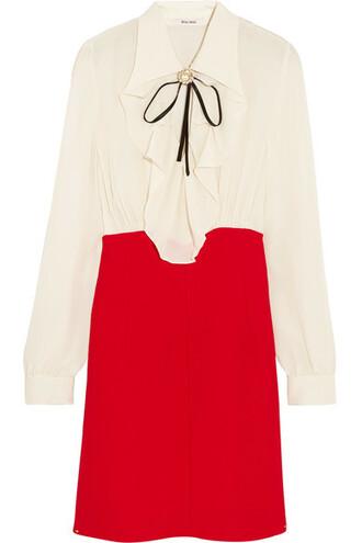 dress mini dress mini silk red