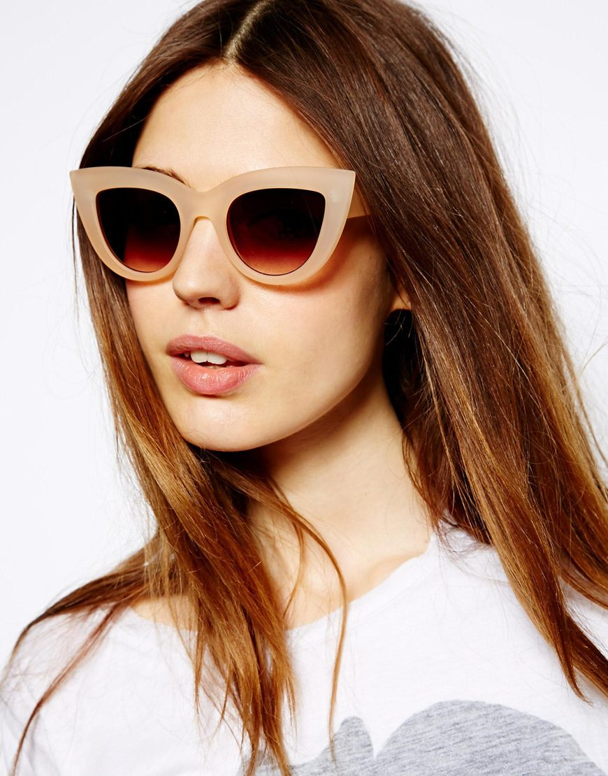 ASOS Flat Top Cat Eye Sunglasses at asos.com