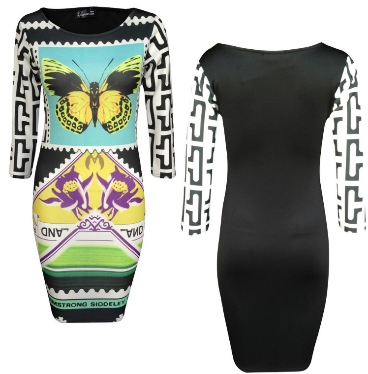 Black and White Butterfly Dress / Precious Metalz