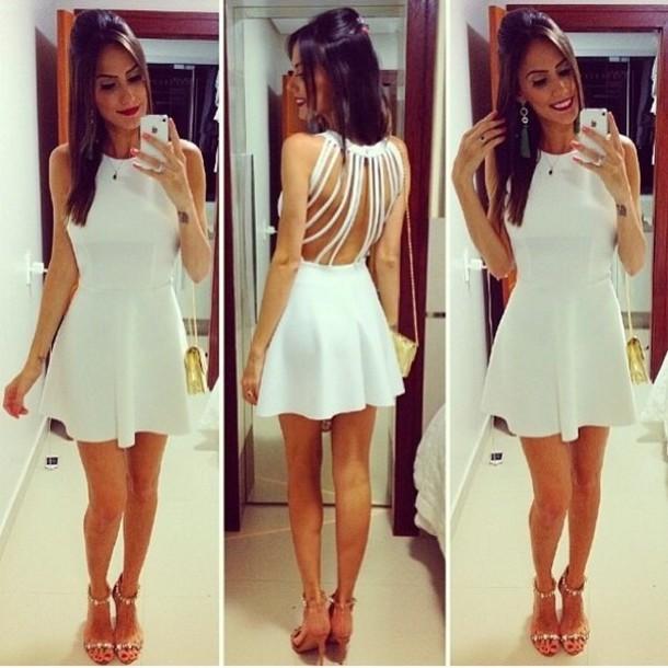dress strappy white white dress