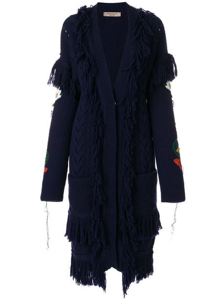 PICCIONE.PICCIONE cardigan cardigan women blue sweater