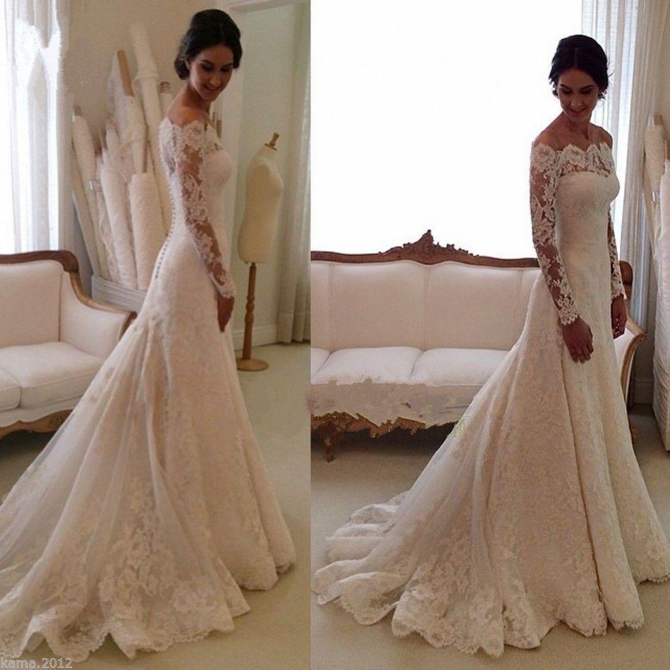 New White/Ivory Wedding Dress Bridal Gown Custom Size 6 8 10 12 14 16 18