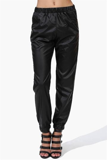 Ring leader harem pants in black