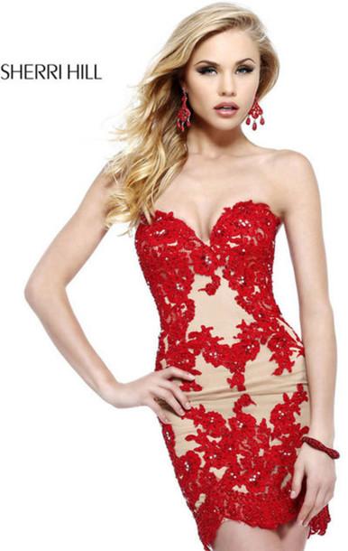 dress, short prom dress, short lace prom dresses 2015 ...