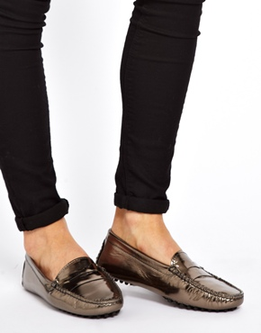 Bobbies | Bobbies La Petillante Silver Driving Shoes at ASOS