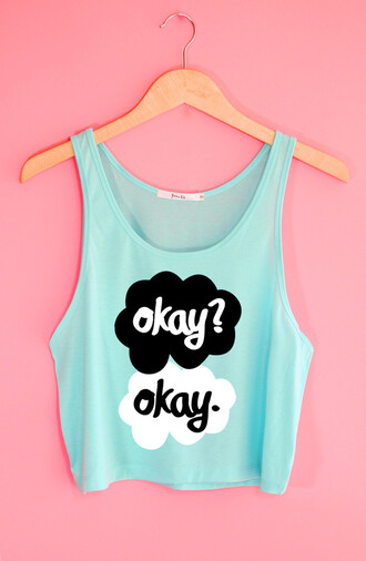 yotta kilo the fault in our stars crop tops tank top summer outfits tumblr tumblr girl tumblr clothes tumblr shirt tumblr outfit john green