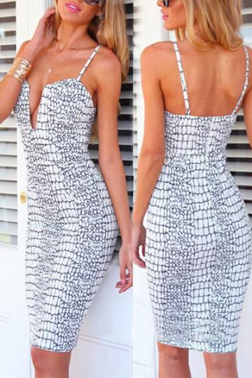 Snake print plunge dress · summah breeeze · online store powered by storenvy