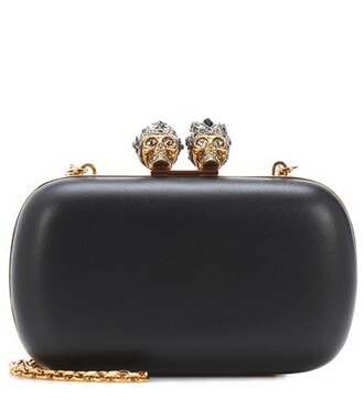 embellished king clutch black bag