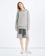 top,zara,grey sweater,unisex,all grey everything,All grey outfit,sweater