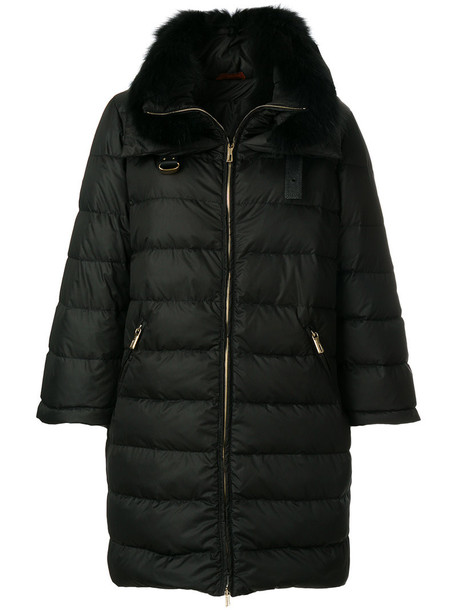 jacket puffer jacket fur women black