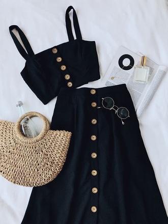 dress black dress button up