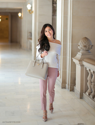 extra petite blogger pants shoes scarf bag