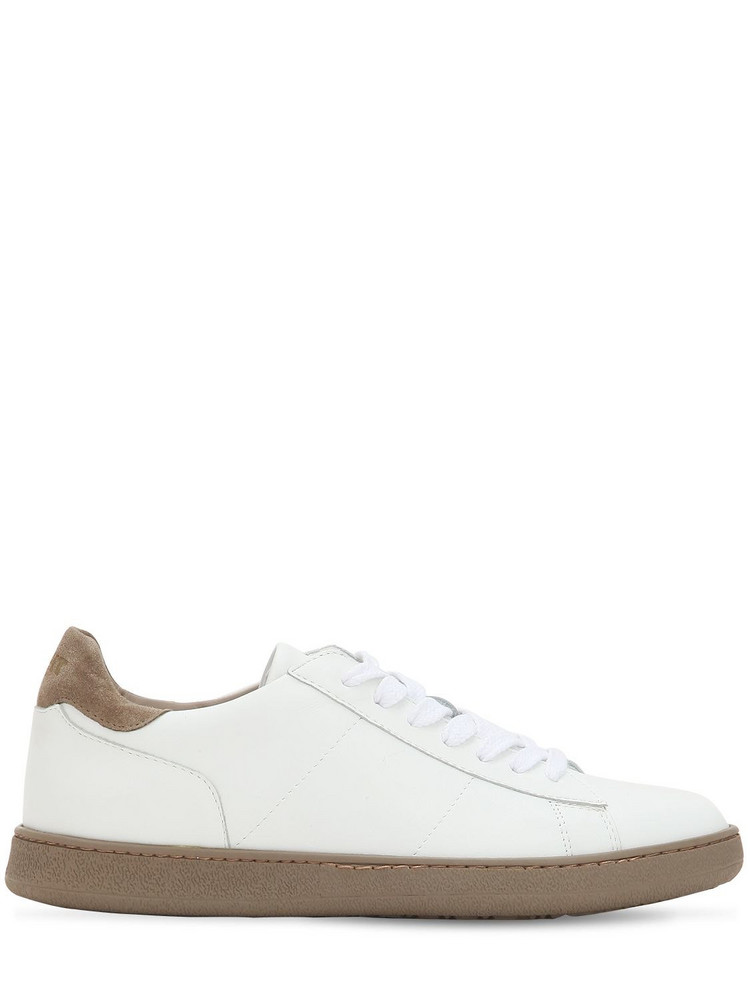 ROV Leather Low Top Sneakers in taupe / white