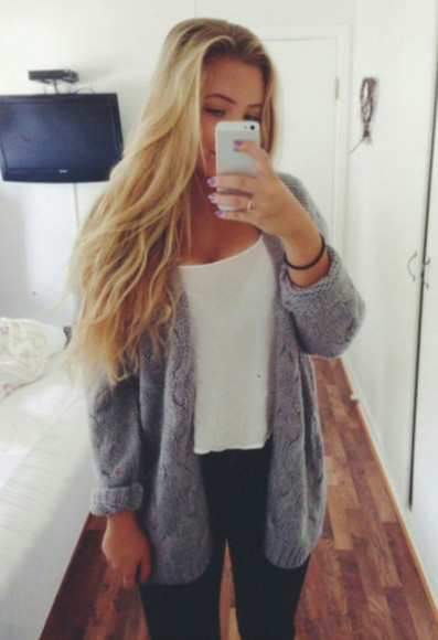 blue sweater oversized sweater black jeans white tank top blue over sized sweater dress
