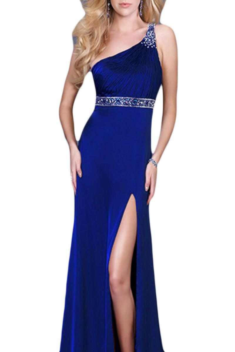 2013 Single Shoulder Slim Backless Party Dress,Cheap in Wendybox.com