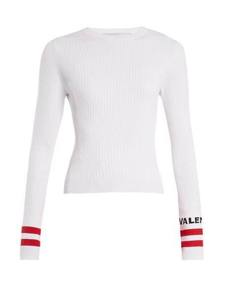 sweater knit white