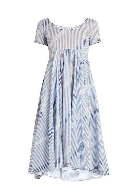 THIERRY COLSON dress cotton print blue
