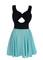 Rella bow skater dress
