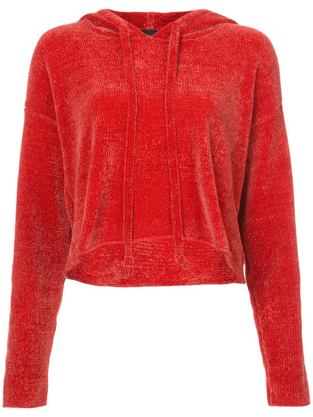 KENDALL+KYLIE hoodie cropped hoodie cropped women red sweater
