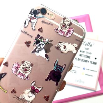 phone cover yeah bunny cute dog dog print pugs frenchie poop poop emoji iphone cover iphone case iphone