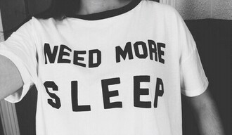 t-shirt sleep more printed cool girl