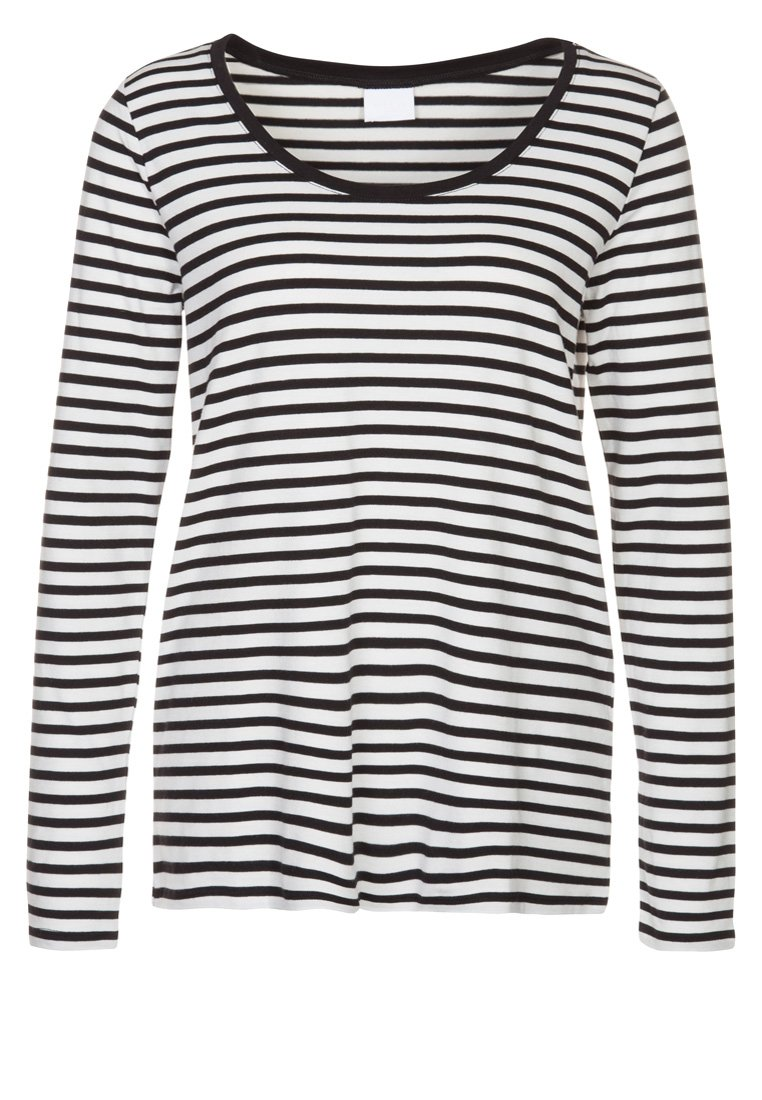Vila OFFICIEL WIDE - Langarmshirt - snow white/black - Zalando.de