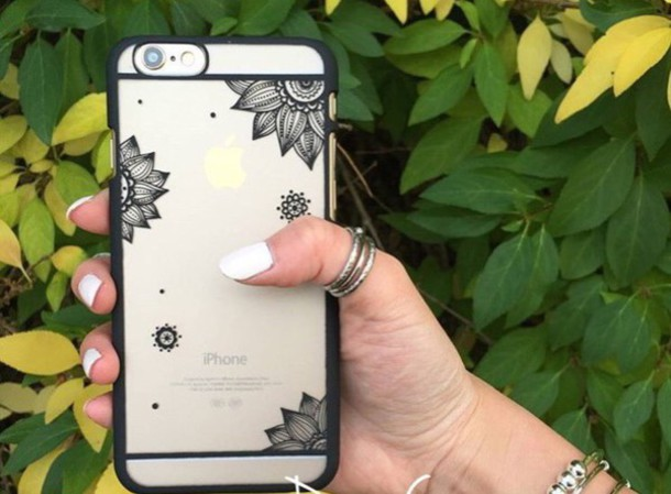 phone cover henna case iphone case iphone 6 case black mandala case mandala phone cover clear iphone case henna iphone case henna design iphone 6 phone cover floral phone case