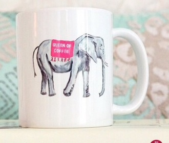 home accessory mug coffee elephant