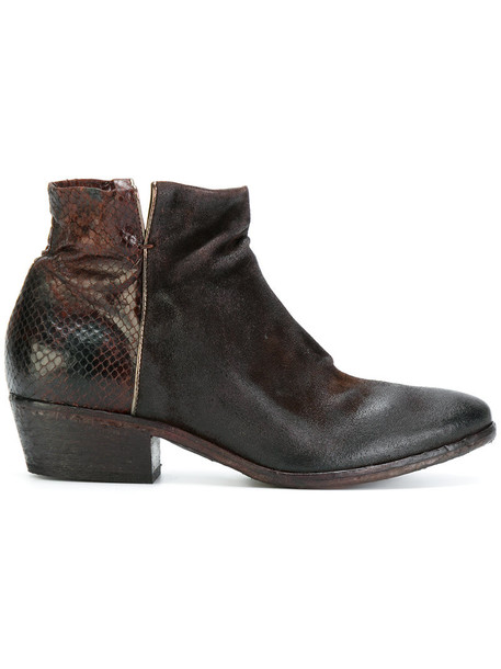 Fausto Zenga women ankle boots leather brown shoes