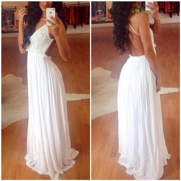 A long white dress cute