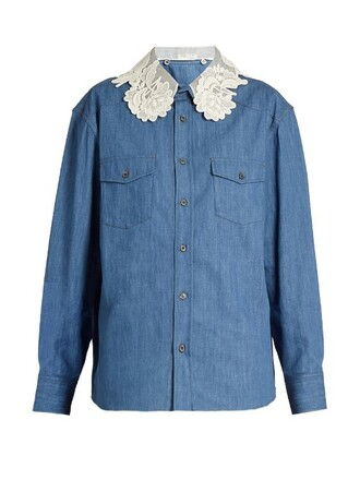 shirt denim shirt denim lace top