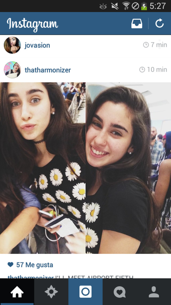 t-shirt lauren jauregui Fifth Harmony flowers indie