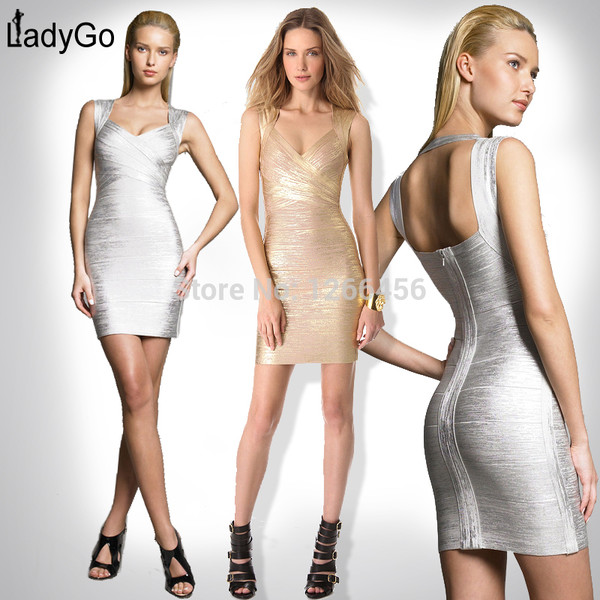 party dress bandage dress lady dress gold dress brand dress